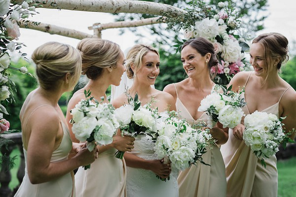 white and green wedding bouquets