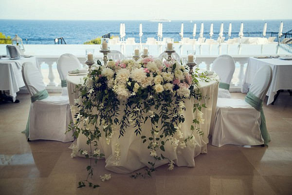 white and sage wedding chairs