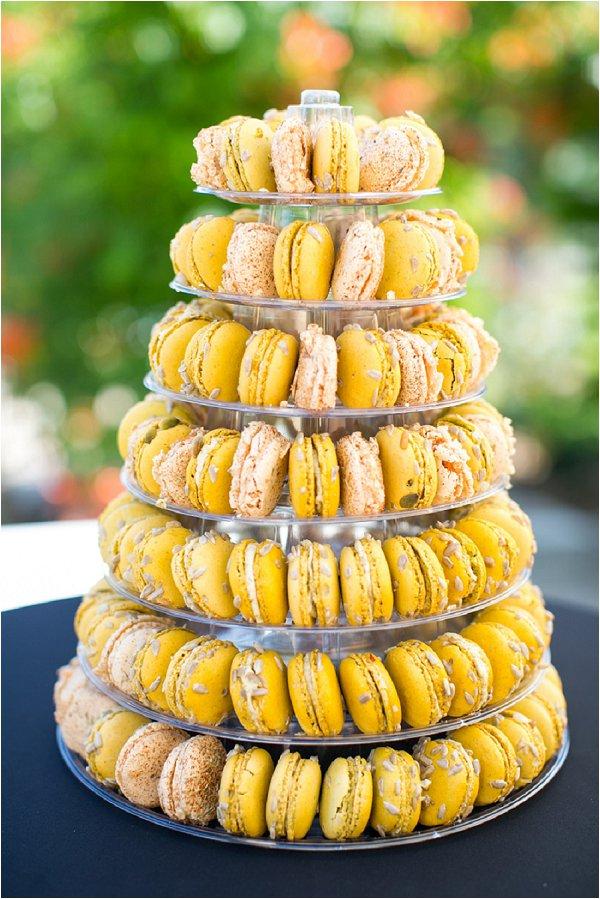 yellow macaron tower