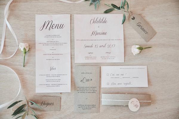 Château Beauchêne Wedding Invite