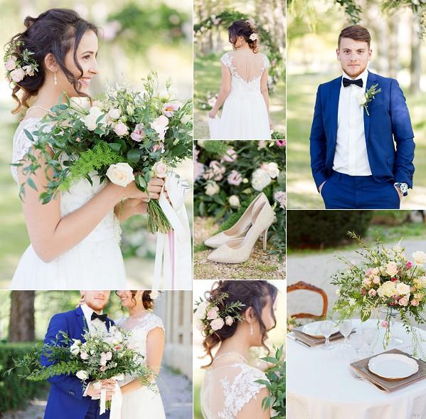 Floral Inspired Abbaye École de Sorèze Wedding Snapshot