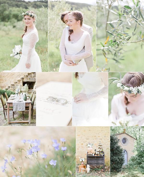 Natural Beauty Domaine de Castillou Wedding Snapshot