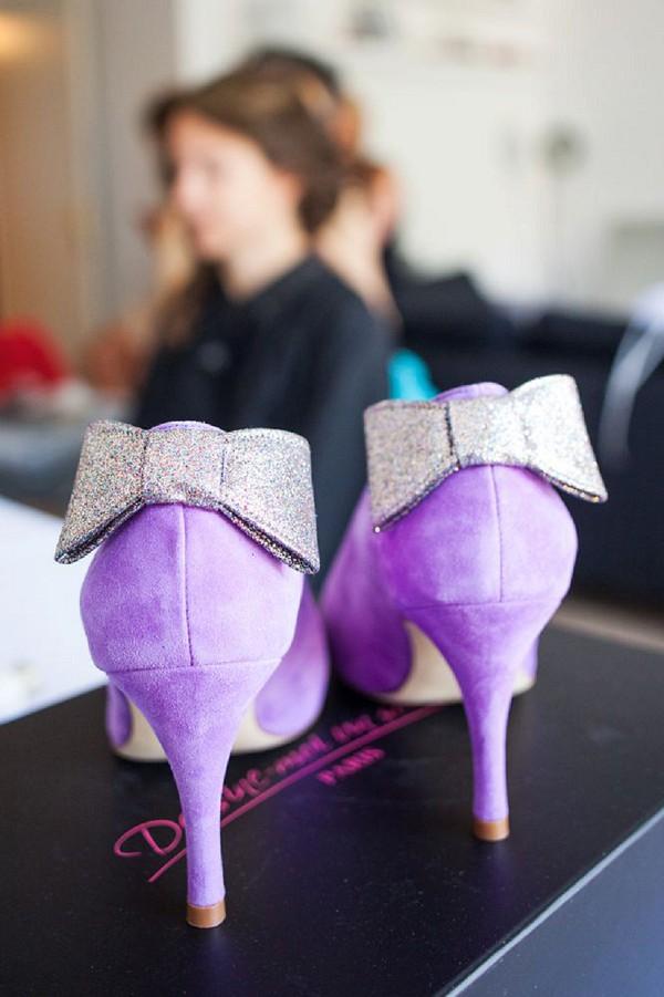 Violet wedding shoes