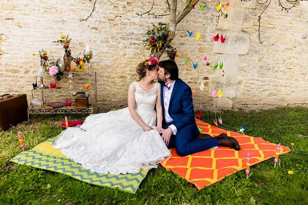 bright wedding inspiration