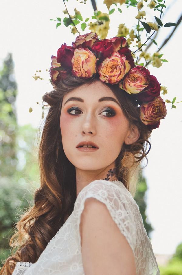 flower crown roses