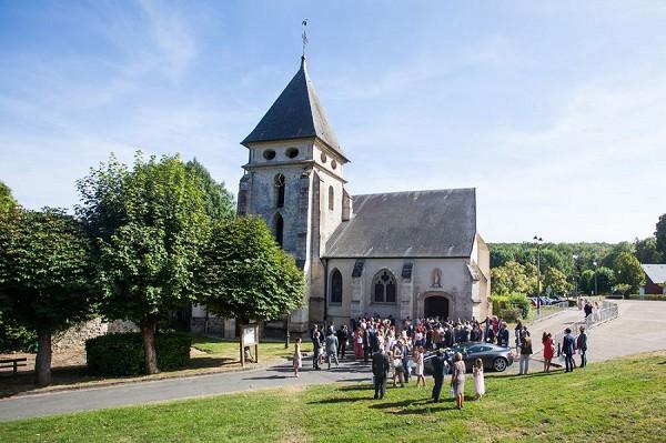 french wedding day church