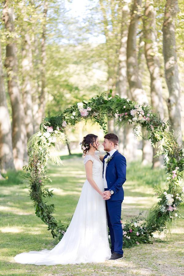 large flower wedding arch
