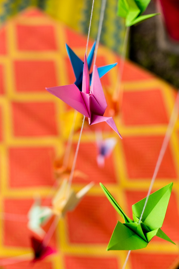 origami wedding decor diy