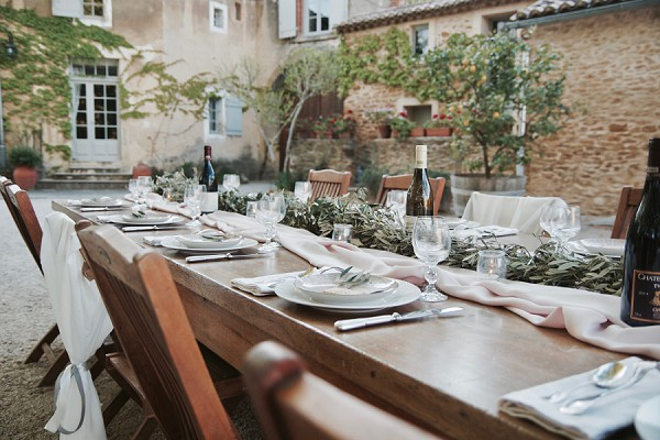 provence inspired tablescape