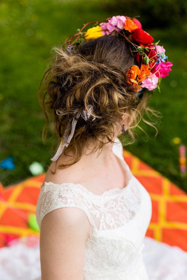 relaxed wedding up do