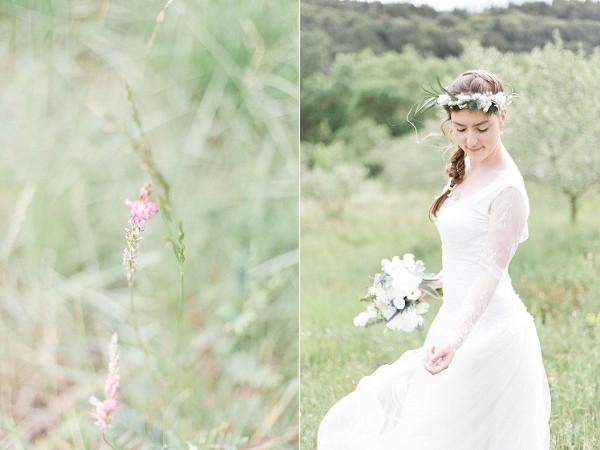 rustic wedding bridal portrait