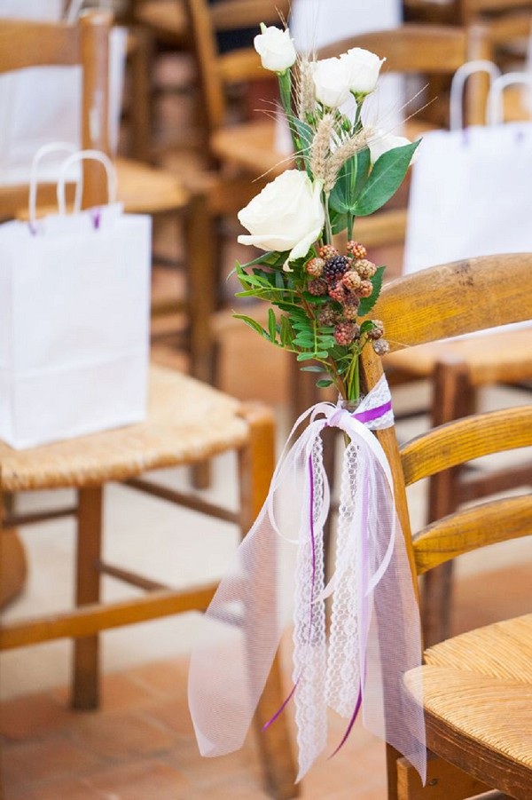 rustic wedding seat decor