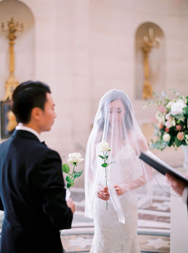 sheer wedding veil