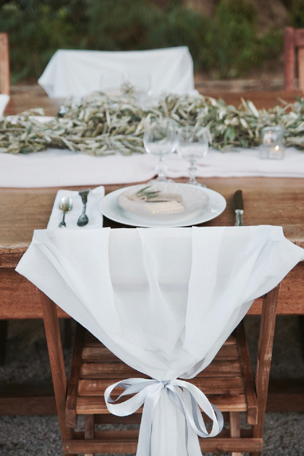 simple wedding chair covers