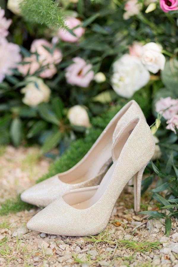 sparkly wedding heels