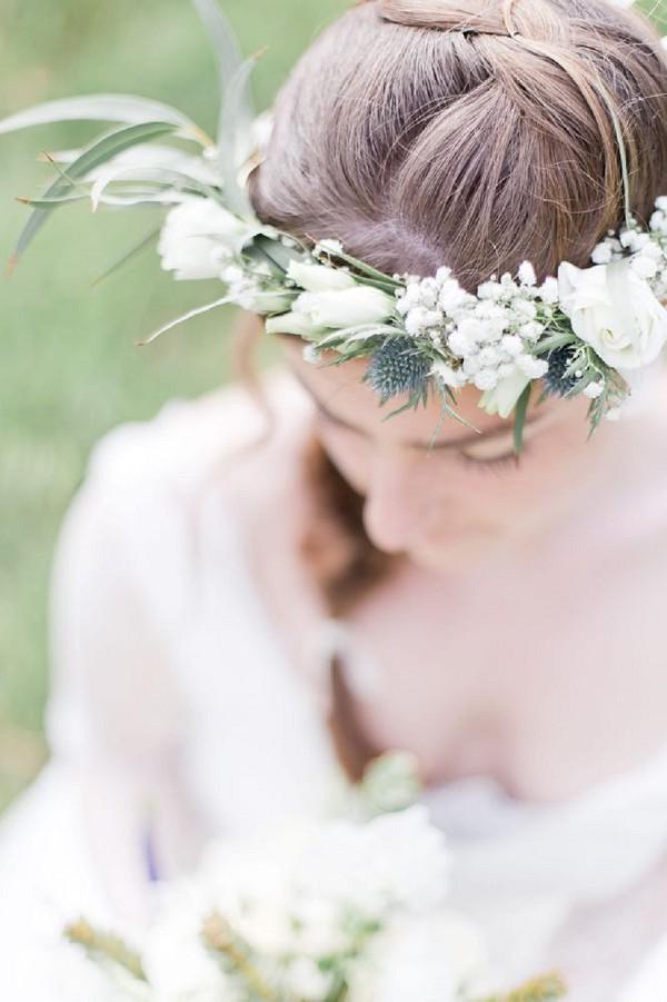 thistle flower crown