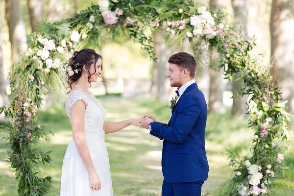 unique wedding floral arch