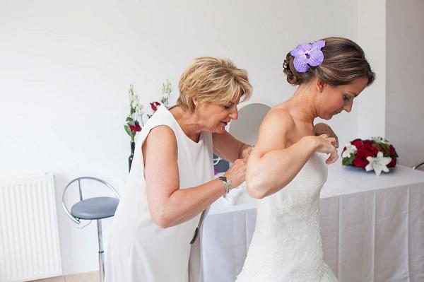violet inspired wedding details