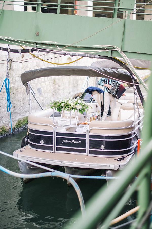 wedding day boat ride
