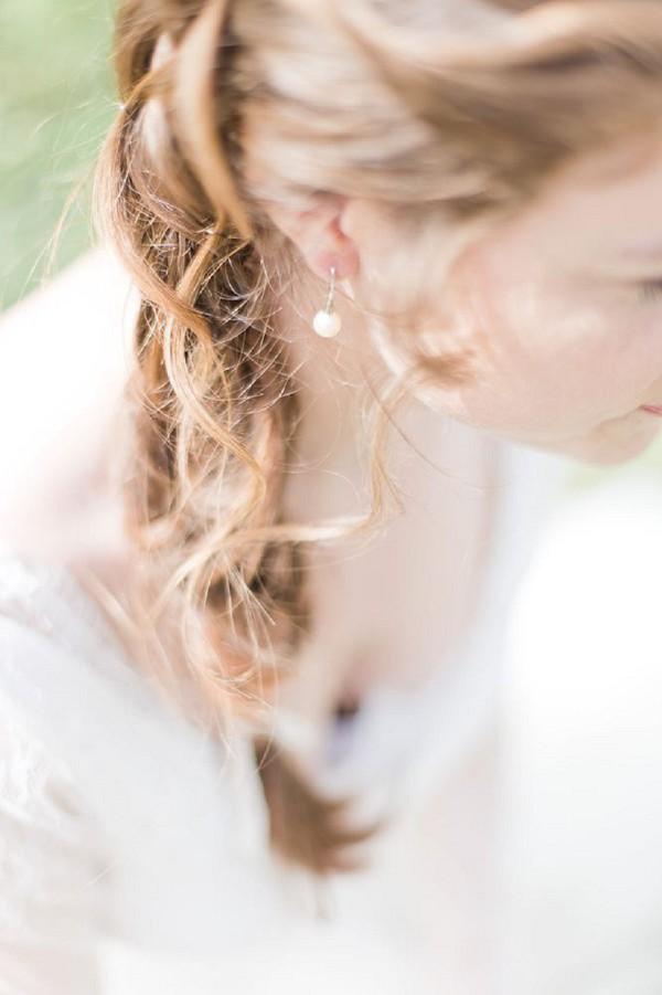 wedding day pearl earrings