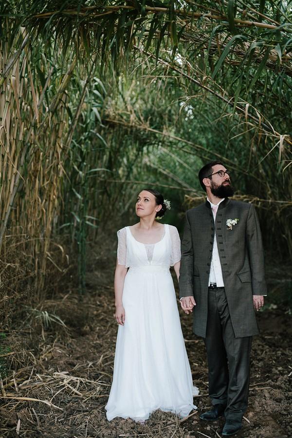 Bamboo wedding photo