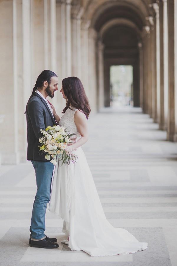 Gorgeous maxi skirt wedding dress