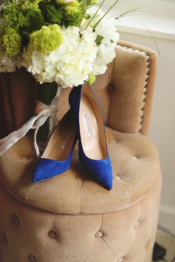 Manolo Blahnik Blue Wedding Shoes