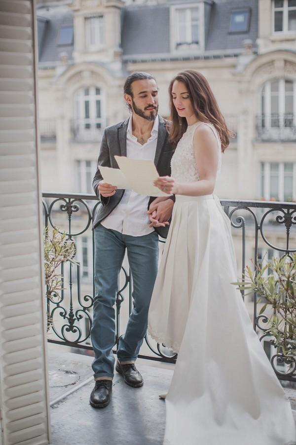 Parisian apartment wedding