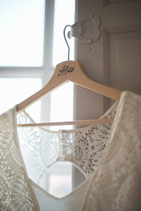 Personalised wedding hanger for her