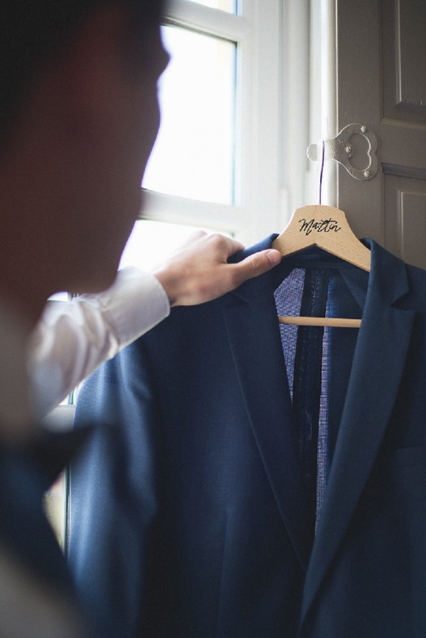 Personalised wedding hanger for him