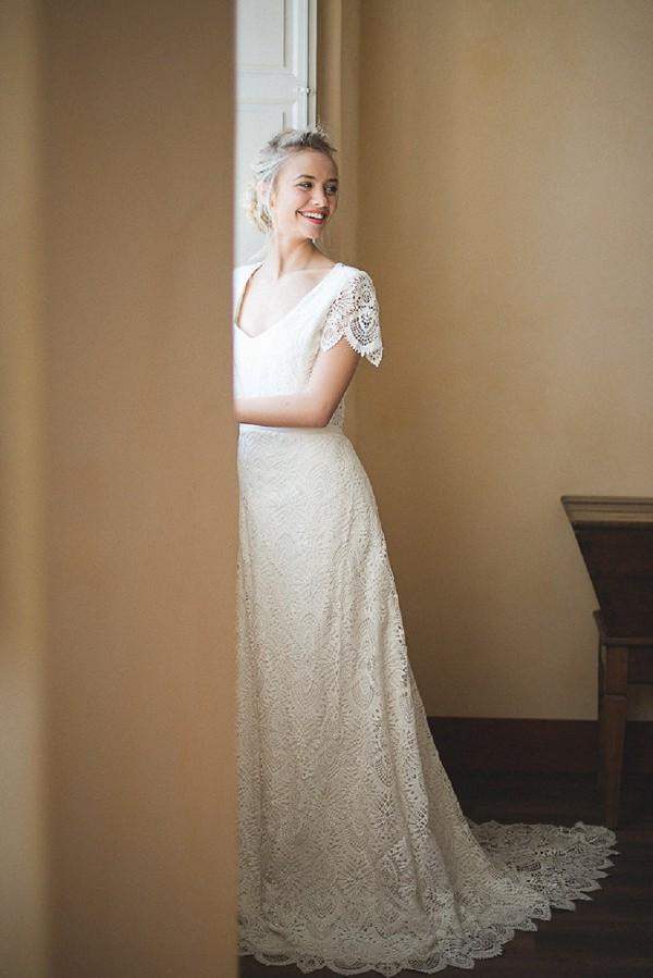 Velvetine lace dress