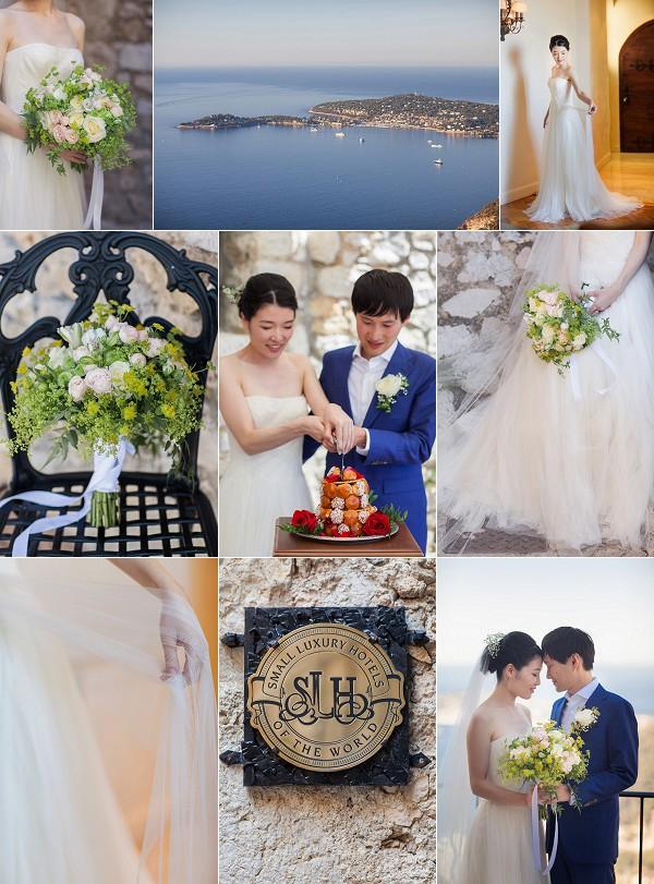 Vera Wang For Chateau Eza Real Wedding Snapshot
