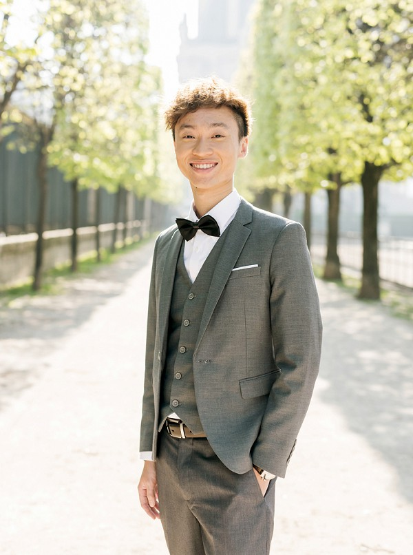 bow tie Paris groom