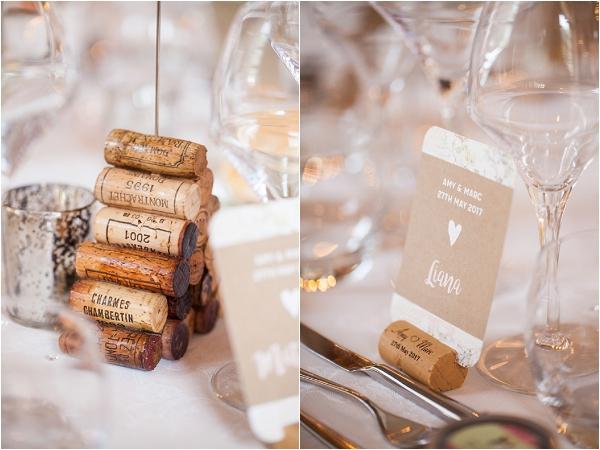 cork themed wedding table | Image by Freddy Fremond