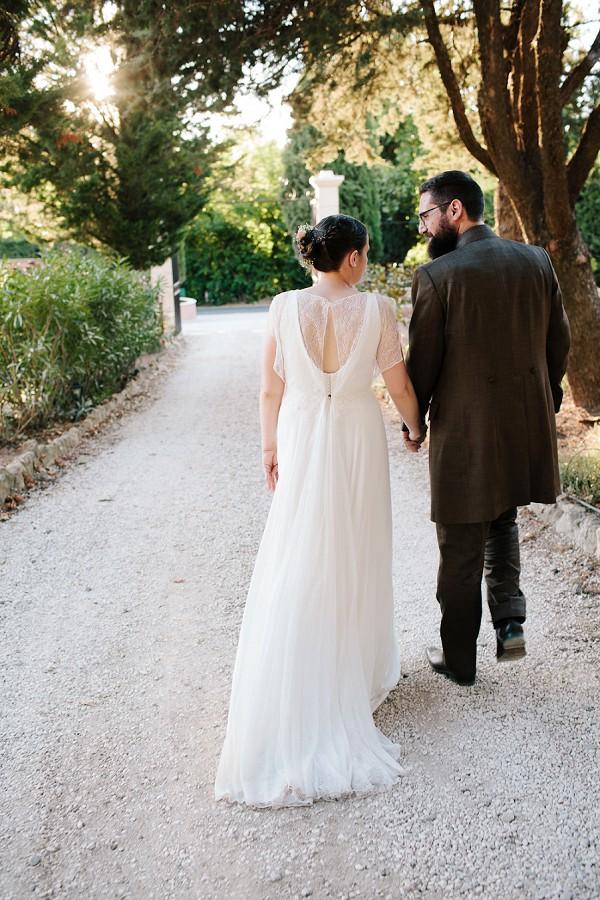 delicate lace wedding dress detail