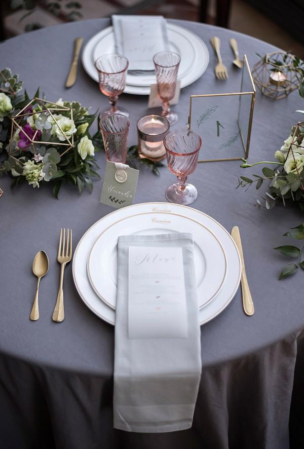 geometric sweetheart table