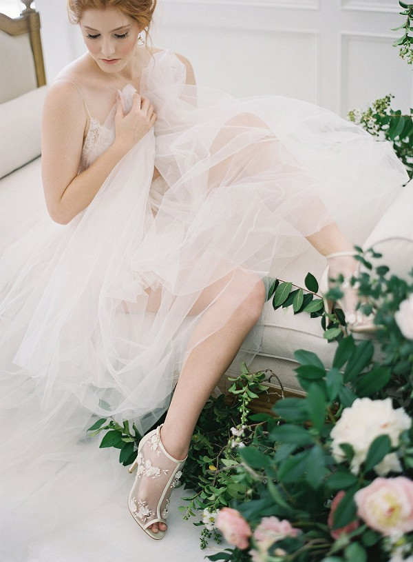 mesh wedding heels