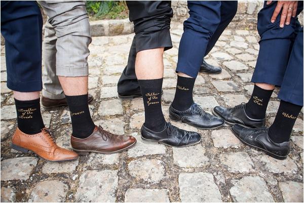 personalised groom socks | Image by Freddy Fremond