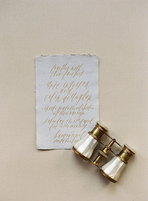 rustic french stationery