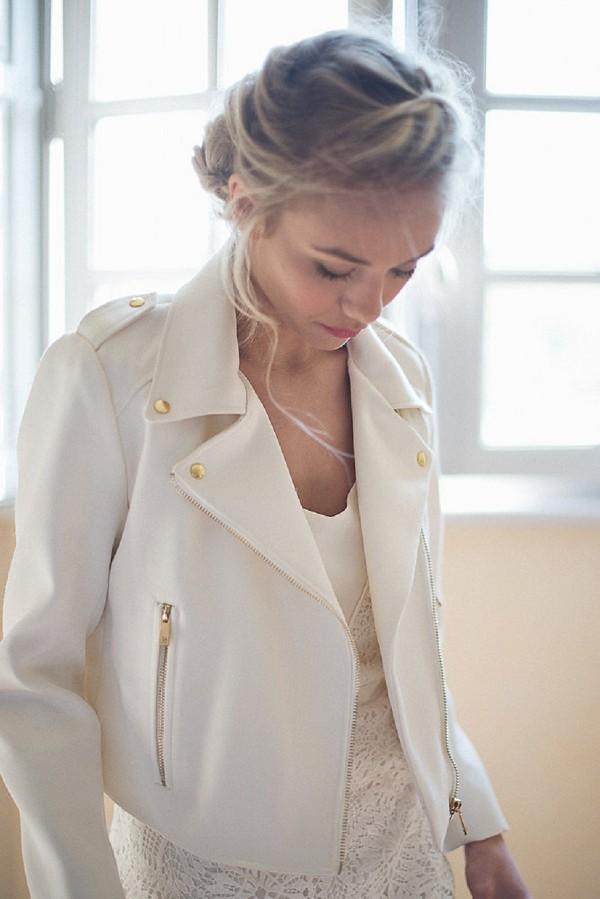 white wedding jacket