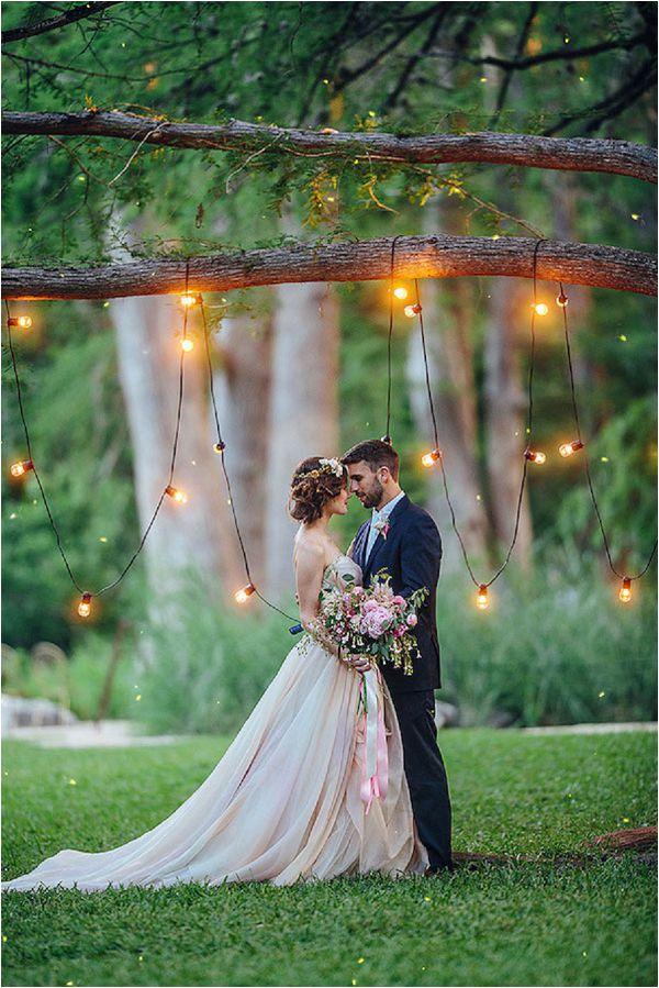 French wedding lighting ideas night photo
