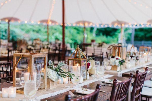 French wedding lighting ideas lantern centrepiece