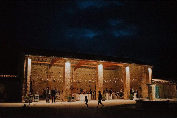 French wedding lighting ideas barn