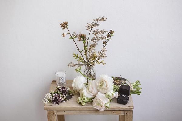 Natural wedding florals