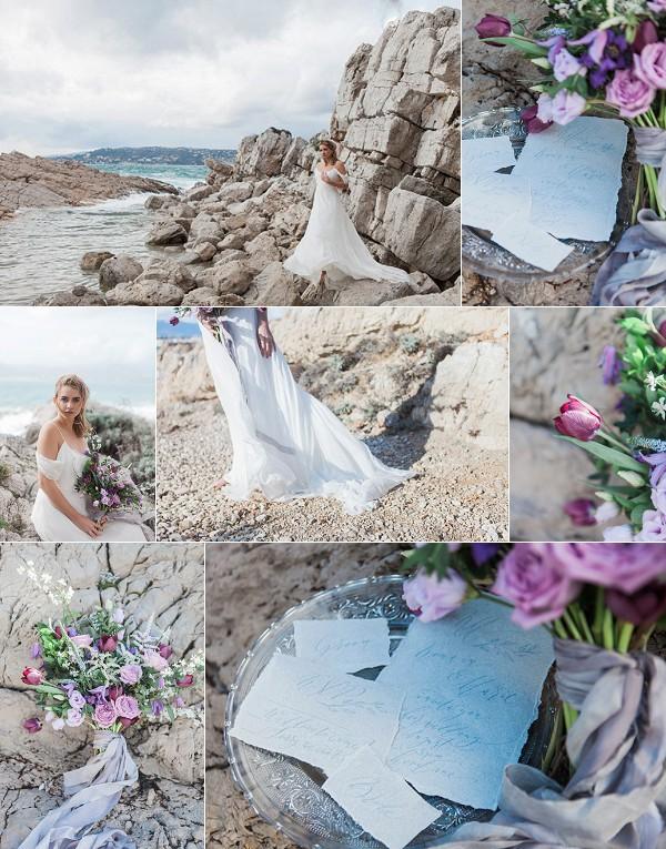 Wildly Romantic French Beach Wedding Inspiration Snapshot
