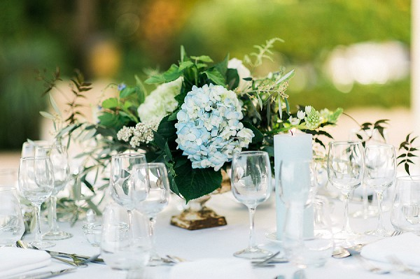baby blue wedding flowers