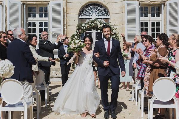 confetti wedding ceremony