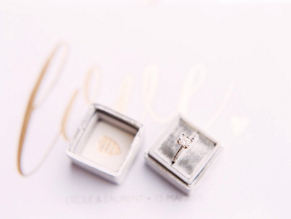 elegant wedding ring box