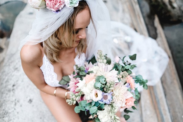 floral head piece and floral embellishments