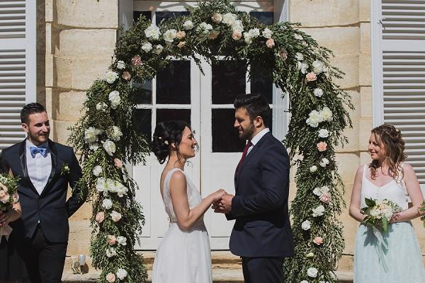 intimate wedding outdoor ceremony